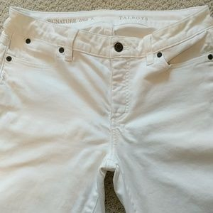 Talbots signature crop white jeans. Size 6